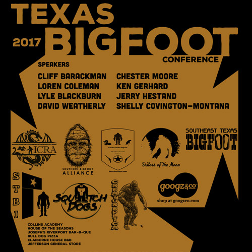 2017 Texas Bigfoot Conference T-shirt